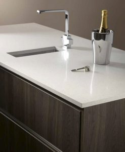 m-stone white gem stone quartz worktop