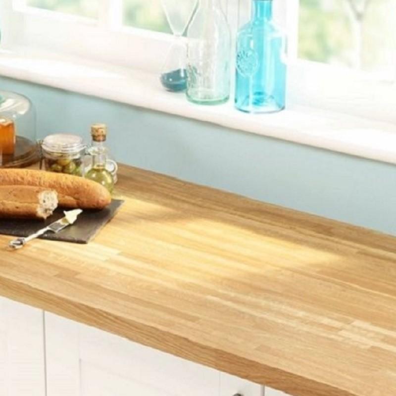 Kitchen Worktops That Fit Over Existing Worktops: Basix Solid Oak Worktops