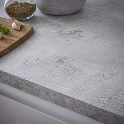 grey concrete square edge kitchen worktops