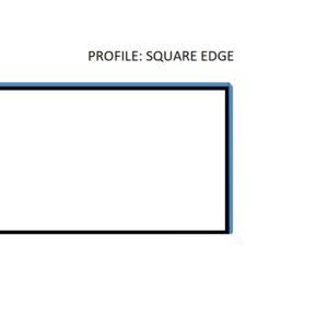 square edge profile of a worktop